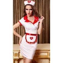 Taste uniform The nurse with transparent gauze reality anchorwoman sexy lingerie in Europe and America uniform temptation