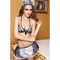 The European and American interest uniform appeal The maid outfit sexy nvy underwear set uniform temptation