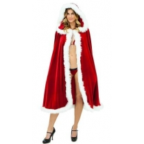 Christmas Dress Up Red Christmas cape with cap Red Cloak