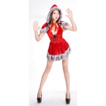 Christmas Costume Halloween Evil Little Red Hat COS Party Party Uniform