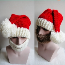 autumn and winter bearded hat hand - knit caps men and women