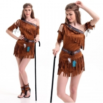 Indian tribes princess clothing role - playing clothing uniforms temptation performance service