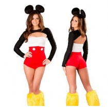 Mickey Mouse Animal Uniform Set Cosplay Clothing Game