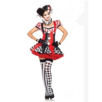 2014 new PU leather clothing circus clown costume role playing uniform temptation wholesale manufacturers