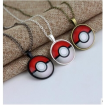 Japanese animation Pokemon Pokemon jewelry necklace diamond necklace tricolor time