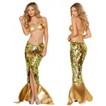 In 2015 the new sequins sparkled fission mermaid evening dress Halloween costumes wholesale