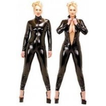 Thick leather catsuit