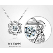 New Korean version of the hexagram S925 sterling silver pendant necklace female clavicle chain Korea