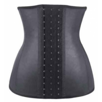 Shiny 3 hook latex waist trainers 9 steel bone