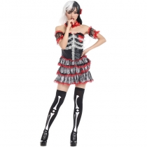 Halloween haunted house Game skull mounted horror theme party dress clothes cosplay