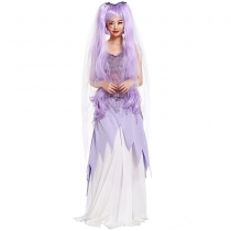 Halloween Dinner Tee dress purple dress offbeat bridal wear Halloween costumes stage
