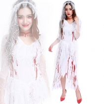 Corpse Bride ghost bride dress cosplay Halloween bloody clothes bridal wear