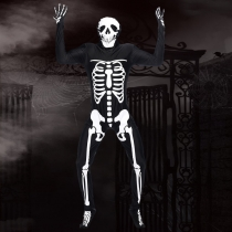Skull skeleton ghost adult male models fitted leotard Halloween masquerade costume party