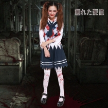 Halloween Horror Halloween bloody bloody student uniforms temptation adult female students loaded