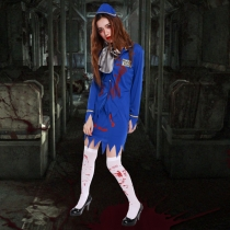Halloween Halloween Horror Zombie bloody bloody stewardess serving female mummy clothes