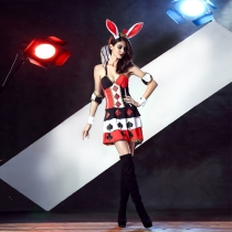 Halloween COS role-playing bunny Bunny dance stage costumes clothes Europe