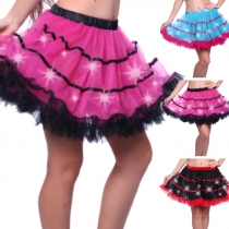 The new LED lamp lights plus cake skirt gauze tutu skirts multicolor stage performances activities