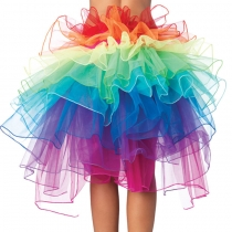 Stage rainbow tail gauze tutu skirts Wholesale girly with skirt