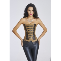New arrive European Waist Training Imitation leather Corset Sexy Women Waist Cincher Slimming Shapewear steampunk