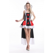 Hot long dress queen of heart costume