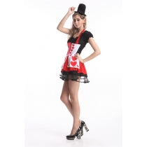 Queen of heart costume sexy halloween dress