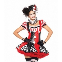 Hot clow costume halloween party dress costume