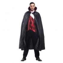 Masquerade red vest vampire costume cloak halloween adult costume black cloak male