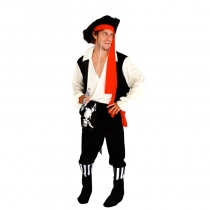 Captain Jack Pirates of the Caribbean clothing adult male pirate performance clothing