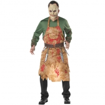 Halloween bloody butcher cooks COS clothes male models blood loaded zombie suit