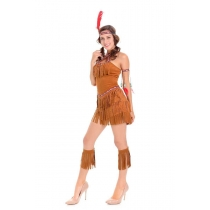 Adult Indian costume cosplay primitive casual clothing tassel