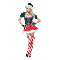 2017 new Christmas costume red and green sprite christmas