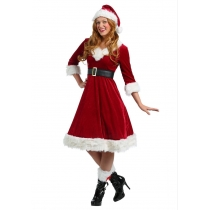 2017 new in the sleeves dress Christmas costume role play Christmas girl Christmas dress