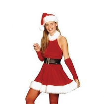 Christmas Costume Sleeveless Christmas Dress Christmas Dress Halter Christmas Skirt