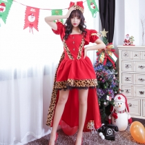Luxury queen Christmas costume Christmas costume stage night party