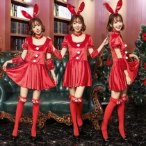 Red Rabbit Dressing Good Rabbit Performance Dress Christmas Bunny Girl