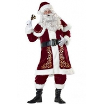 Santa Claus clothing adult male high-grade thick clothing high-end Christmas clothes