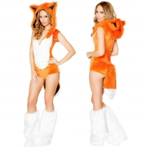 Halloween costume conjoined coquettish little fox cosplay European stage performance clothes nightclub party equipment