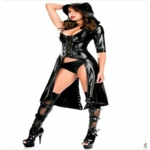 Leather cloak show nightclub DS jazz dancing night market stage bar female singer