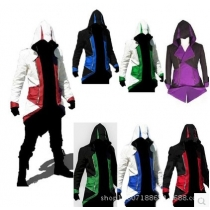 Assassin's Creed 3 Connor Jacket Red Black Cosplay Game