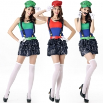 New flash piece adult female models Mary exports Halloween Mario clothing