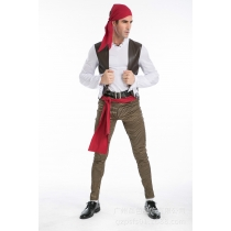 Halloween costumes couple men and women Somali pirate clothes