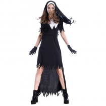 2017 new Halloween nuns costumes nightclubs costumes witch uniforms