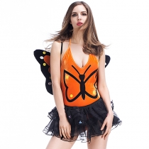 Yellow insects loaded cos clothes Halloween costume butterfly fairy suit suit uniform temptation