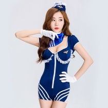 2017 new Slim Navy uniforms DS clothing uniforms party lying cosplay blue navy stage clothing