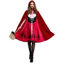 2017 Europe and the United States Halloween little red cap clothing adult cosplay service party loaded little red hat nightclub queen dress