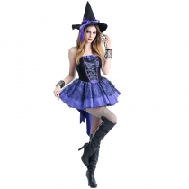 2017Halloween Halloween Purple Swallowtail Witch Witch Wearing Ghost Festival Party Uniform