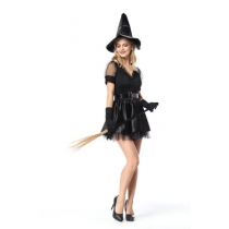 New Black Witch Dress Witch Game Halloween Role Play Witch