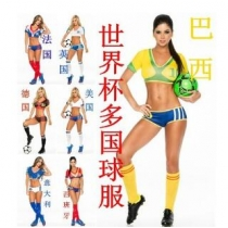 World Cup cheerleaders costume national team football baby clothing cheerleading service
