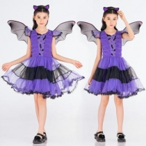 Children's Costume Cosplay Purple Bat Clothing Children's Day Performance Costumes