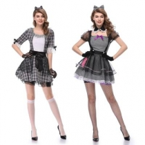 Role-playing circus clown costume crush porcelain doll clothing